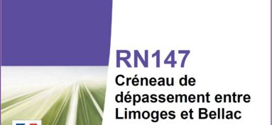 ENQUÊTE PUBLIQUE : Projet de création de deux créneaux de dépassement sur la RN 147 sur le territoire des communes de Berneuil et Chamborêt